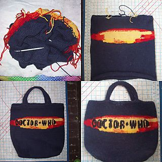 Imaginary Husband Felted bag Timeline