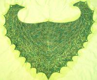Slightly wonky Laminaria shawlette