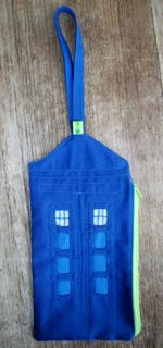Generic Blue Police Box Bag