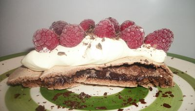 Chocolate raspberry pav