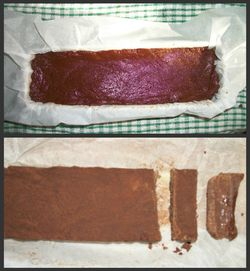 A bar of fudge