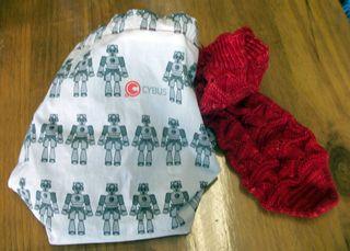 Cyberman bag and a sock