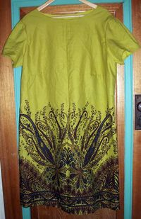 Chartreuse dress almost