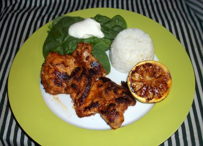 Spiced lemon chicken