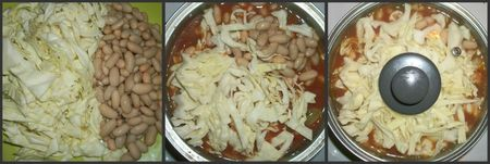 Cabbage and beans