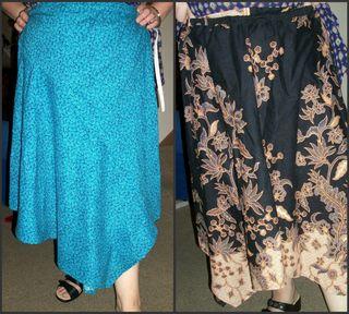 Sewed skirts
