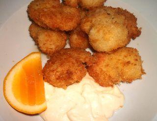 Yummy panko scallops
