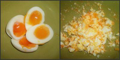 Mash eggs