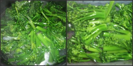Broccolini cooking