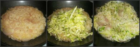 Adding the zucchini