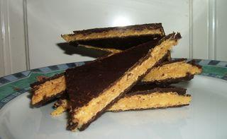 Choc caramel slice