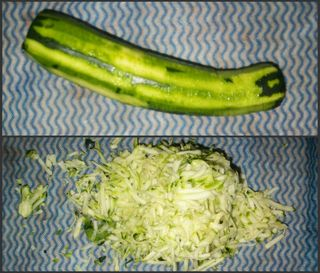 Grate the zucchini