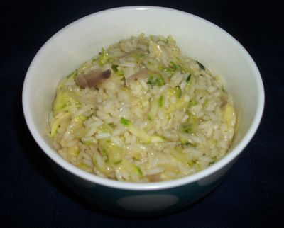Zucchini rice with cheese