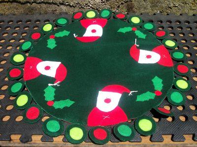 Santa penny rug