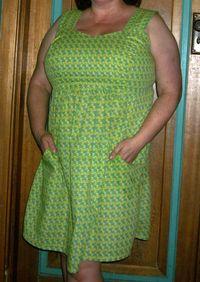 Wearing my dress