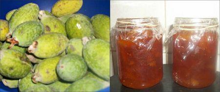 Feijoas and jam