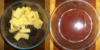 Melting choc and butter