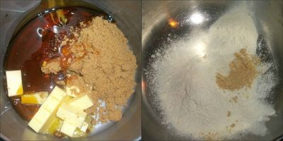 Melting and dry ingredients