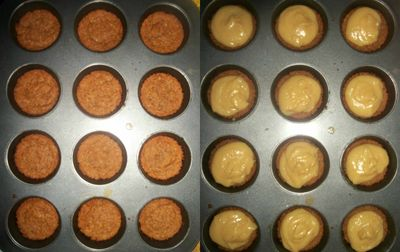 Base and uncooked caramel
