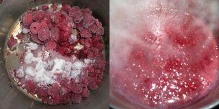Raspberry compote