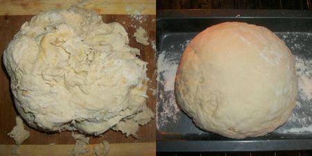 Dough knead rise