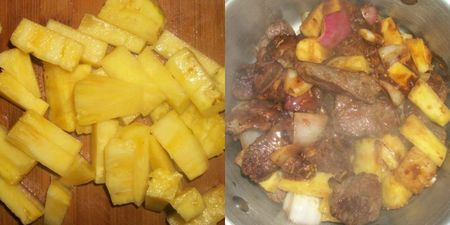 Pineapple and oven