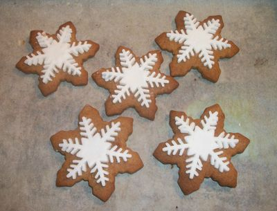Gingerbread starry biscuits