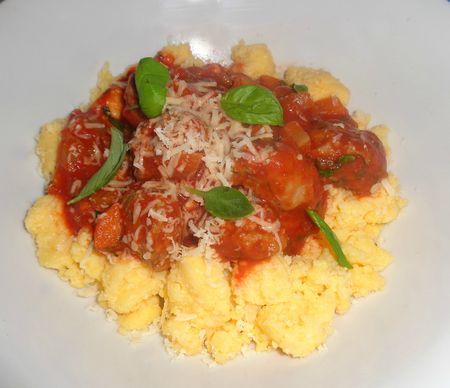 Sausage ragu and polenta