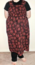 Shirred sack dress