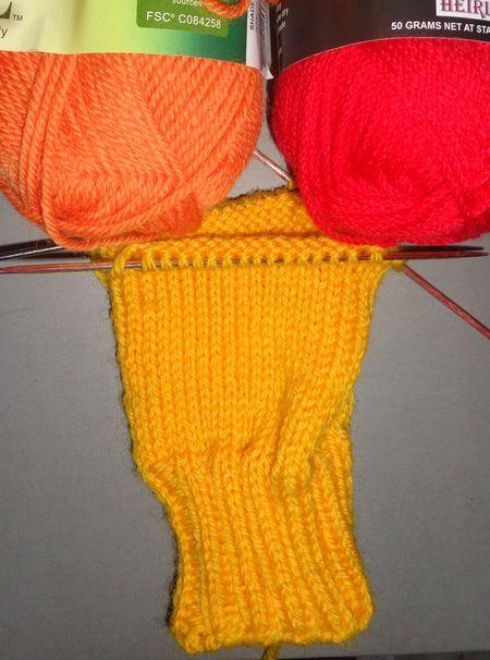 Jayne's socks in progress