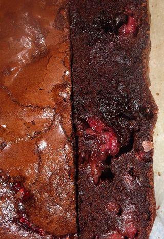 Yum raspberry chocolate brownie