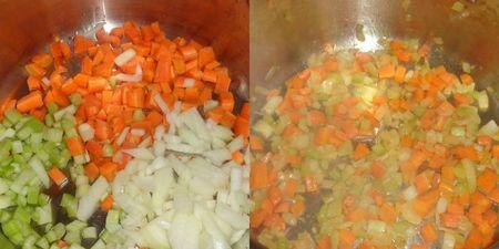 Saute vegetables