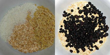 Oats and berries mainly
