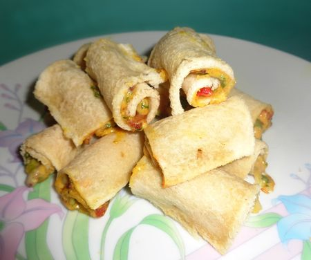 Cheese and bacon rolly uppy things