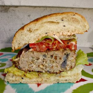 Lebanese inspired lamb burger