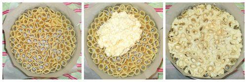 Upright pasta and ricotta