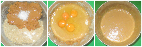 Caramel eggs sugar