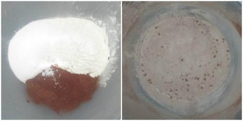 Flour cocoa salt