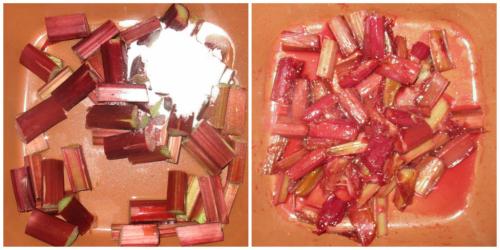 Cook rhubarb