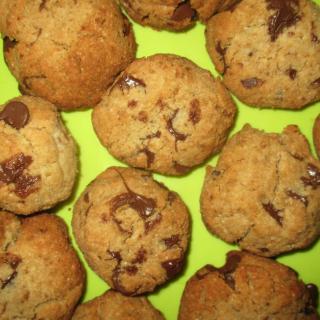 Choc chip hazelnut biscuits