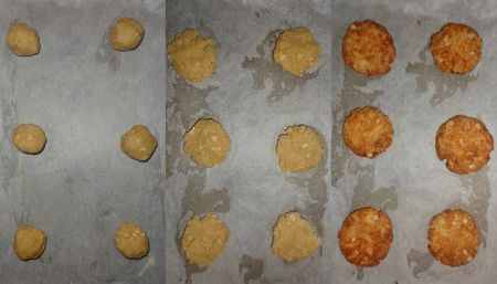 Biscuits formed and baked