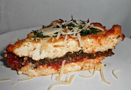 Ricotta spinach & tomato bake