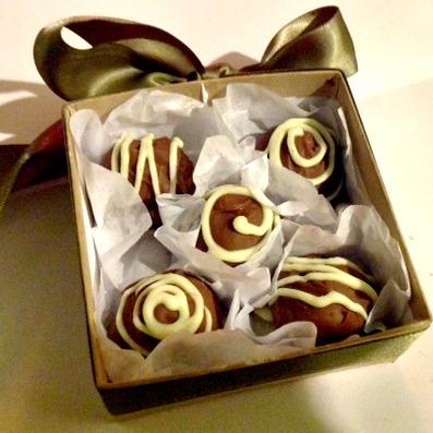 Hazelnut cherry truffles