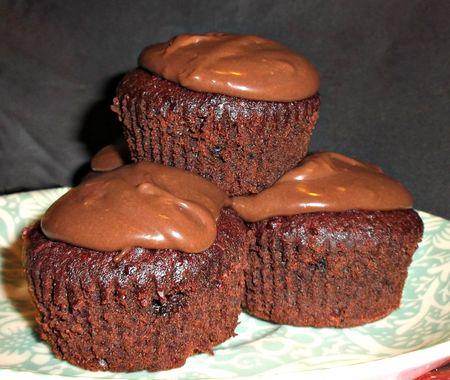Chocolate beetroot cupcakes