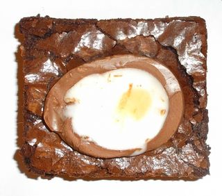 One cream egg brownie