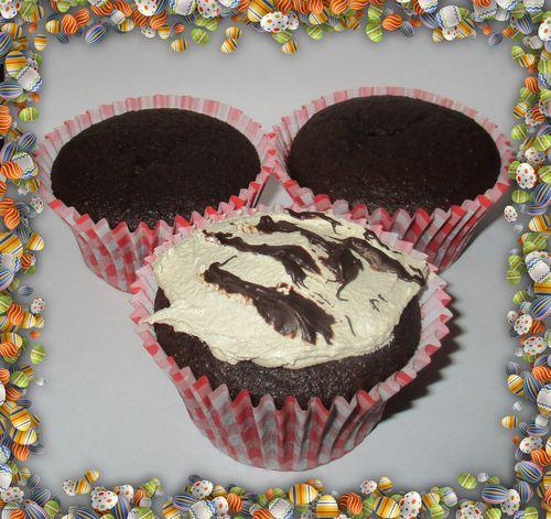 Choc centre cupcakes