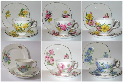 Cup saucer and plate sets