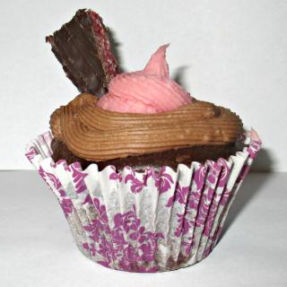 Plainer cherry ripe cupcake