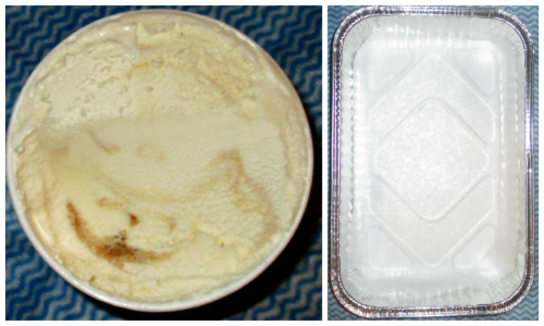 Icecream and tray