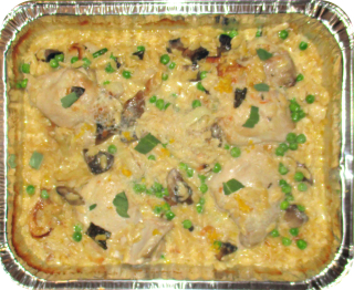 Creamy chicken risoni bake